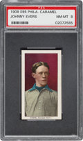 Baseball Cards:Singles (Pre-1930), 1909 E95 Philadelphia Caramel Johnny Evers PSA NM-MT 8 - TheCurrent PSA Champion! ...