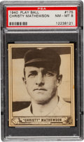 Baseball Cards:Singles (1940-1949), 1940 Play Ball Christy Mathewson #175 PSA NM-MT 8 - None Higher....