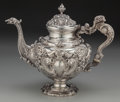Silver Holloware, South American:Holloware, A Portuguese Silver Coffee Pot, Porto, early 20th century. Marks:(eagle-833). 10-1/4 inches high (26.0 cm). 51.95 troy ounc...