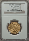 Italy:Lucca, Italy: Lucca. Republic gold Scudo d'oro del sole ND XF40 NGC,...