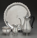 Silver Holloware, American:Tea Sets, A Four Piece Tiffany & Co. Silver Coffee Service, New York, NewYork, circa 1947-1956. Marks: TIFFANY & CO., MAKERSSTERLI... (Total: 4 Items)
