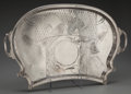 Silver Holloware, British:Holloware, A Large English Aesthetic Movement Silver-Plated Serving Tray,circa 1880. 1-3/4 inches high x 31-1/2 inches wide x 19 inche...