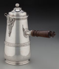 Silver Holloware, French:Holloware, A Henri Gauthier French Silver Chocolate Pot with Wood Muddler,Paris, France, circa 1902-1920. Marks: (Minerva), (HG-star-c...