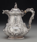 Silver Holloware, American:Southern Coin Silver , A Vincent Laforme & Brothers Coin Silver Figural Coffee Pot for Hyde & Goodrich, circa 1850. Marks: HYDE & GOODRICH, NEW O...