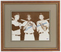 Baseball Collectibles:Photos, Mickey Mantle and Willie Mays Multi Signed Oversized Photograph....