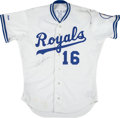 "Baseball Collectibles:Uniforms, 1989 Bo Jackson Signed Kansas City Royals ""Scoreboard"" Jersey...."
