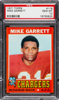 Football Cards:Singles (1970-Now), 1971 Topps Mike Garrett #119 PSA Gem Mint 10 - Pop Two!...
