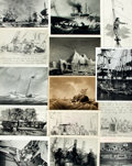 Books:Prints & Leaves, [Whales]. Archive of Approximately 144 Photographs and ImagesRelating to Whales and Whaling....