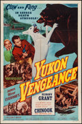 "Movie Posters:Adventure, Yukon Vengeance & Other Lot (Allied Artists, 1954). One Sheet(27"" X 41"", & Half Sheet (22"" X 28""). Adventure.. ... (Total: 2Items)"