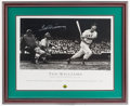 Baseball Collectibles:Photos, Ted Williams Signed Poster....