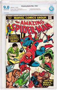 The Amazing Spider-Man #140 (Marvel, 1975) CBCS VF/NM 9.0 Off-white to white pages