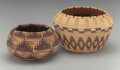 American Indian Art:Baskets, Two California Polychrome Coiled Jars. c. 1920... (Total: 2 Items)