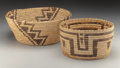 American Indian Art:Baskets, Two Large Papago Bundle Coiled Baskets ... (Total: 2 )