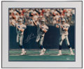 Football Collectibles:Photos, Troy Aikman Signed Oversized Photograph....