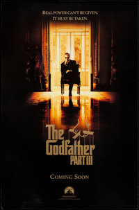 """The Godfather Part III (Paramount, 1990). One Sheet (27"""" X 40"""") SS . Crime"""
