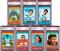 Football Cards:Lots, 1971 Topps Football PSA NM-MT 8 Collection (7). ...