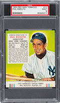Baseball Cards:Singles (1950-1959), 1953 Red Man Phil Rizzuto #10 PSA Mint 9 - Pop Two, None Higher....