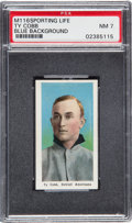 Baseball Cards:Singles (Pre-1930), 1910-11 M116 Sporting Life Ty Cobb, Blue Background PSA NM 7. ...