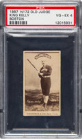 Baseball Cards:Singles (Pre-1930), 1887 N172 Old Judge King Kelly, Boston NL (#254-5) PSA VG-EX 4. ...