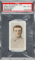 Baseball Cards:Singles (Pre-1930), 1910-11 M116 Sporting Life Rube Waddell/Black Back PSA NM-MT 8 -None Higher. ...