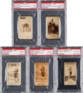 Baseball Cards:Lots, 1887 N172 Old Judge Baseball PSA Graded Collection (5). ...