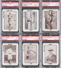Baseball Cards:Lots, 1913 National Game & Tom Barker Game PSA Graded Collection (6)With Alexander. ...