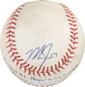 Baseball Collectibles:Balls, 2013 Mike Trout Youngest American Leaguer to Hit for Cycle Game Used Baseball....