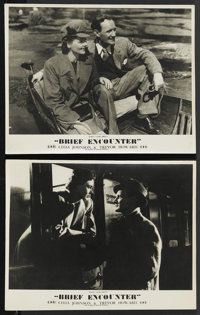 """Brief Encounter (Eagle Lion, 1946). British Front of House Lobby Cards (2) (11"""" X 14""""). Romance. ... (Total: 2..."""
