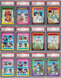 Baseball Cards:Sets, 1975 Topps Baseball PSA High Grade Near Set (537/660) Plus Extras....