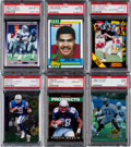 Football Cards:Lots, 1990-1995 Football Stars & HOFers Graded Collection (16). ...