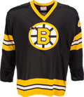 Hockey Collectibles:Uniforms, 1975 Bobby Orr Final Game Worn Jersey as a Member of the Boston Bruins....