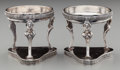 Silver Holloware, Continental:Holloware, A Pair of Austrian Silver Figural Open Salts, Vienna, Austria,circa 1824. Marks: (1824, 13, A), (effaced maker's mark). 2-3...(Total: 2 Items)