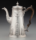 Silver Holloware, British:Holloware, A Thomas Cook and Richard Gurney George II Silver Coffee Pot,London, England, circa 1738. Marks: (lion passant), (crowned l...