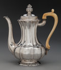 Silver Holloware, Continental:Holloware, A Stephan Mayerhofer & Carl Klinkosch Austrian Silver ChocolatePot with Ivory Handle, Vienna, Austria, circa 1840. Marks: (...