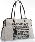 "Luxury Accessories:Accessories, Louis Vuitton Limited Edition Gray Canvas Articules de VoyageMalles Tote Bag. Excellent Condition. 22"" Width x 16""He..."