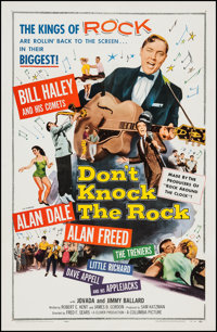 """Don't Knock the Rock (Columbia, 1957). One Sheet (27"""" X 41""""). Rock and Roll"""