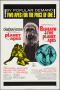 """Movie Posters:Science Fiction, Planet of the Apes/Beneath the Planet of the Apes Combo (20thCentury Fox, R-1971). One Sheet (27"""" X 41""""). Science Fiction...."""