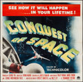 "Movie Posters:Science Fiction, Conquest of Space (Paramount, 1955). Six Sheet (80"" X 80""). ScienceFiction.. ..."