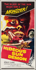 "Movie Posters:Science Fiction, Hideous Sun Demon (Pacific International, 1959). Three Sheet (41"" X79""). Science Fiction.. ..."