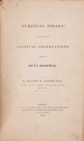 Books:Color-Plate Books, Bransby B. Cooper. Surgical Essays: ... Clinical ObservationsMade at Guy's Hospital. London: 1843....