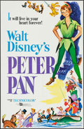 """Movie Posters:Animation, Peter Pan (Buena Vista, R-1969/R-1976). One Sheet (27"""" X 41""""), 7.5IPS Audio Reel (5 inch Diameter), Presskit with Photos (9...(Total: 5 Items)"""