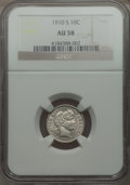 Barber Dimes: , 1910-S 10C AU58 NGC. NGC Census: (6/41). PCGS Population (7/84). Mintage: 1,240,000. Numismedia Wsl. Price for problem free...