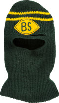 Football Collectibles:Others, Early 1970s Bart Starr Game Worn Green Bay Packers Ski Mask....