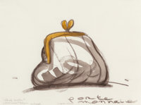 Claes Oldenburg (American, b. 1929) Study for a Sculpture in the Form of a Porte-Monnaie, 1996 Crayo