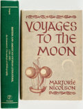 Books:Books about Books, [Books about Books]. [Genre Literature]. Marjorie Hole Nicolson. Voyages to the Moon. New York: The Macmillan Co... (Total: 2 Items)