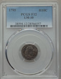 Early Half Dimes, 1795 H10C V-4, LM-10, R.3, Fine 12 PCGS....