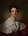 Fine Art - Painting, American:Antique  (Pre 1900), Henry Inman (American, 1801-1846). Portrait of Mrs. RichardTilden Acuhmuty née Mary Allen. Oil on canvas. 13-1/4 x 10-1...