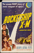 "Movie Posters:Science Fiction, Rocketship X-M (Lippert, 1950). One Sheet (27"" X 41""). ScienceFiction.. ..."