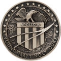 Explorers:Space Exploration, Apollo 16 Flown Silver Robbins Medallion, Serial Number 44, Originally from the Personal Collection of Mission Commander John ...