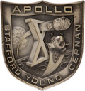 Explorers:Space Exploration, Apollo 10 Flown Silver Robbins Medallion, Serial Number 121, Originally from the Personal Collection of Mission Command Module...
